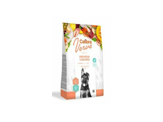 Calibra Dog Verve GF Junior M&L Chicken&Duck 12kg na aaagranule