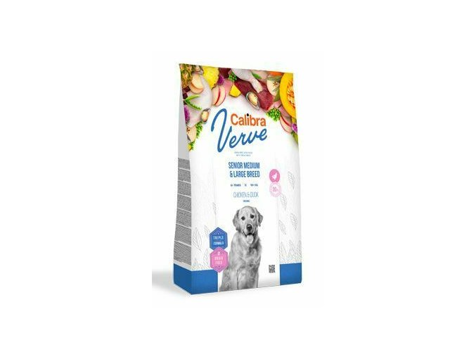 Calibra Dog Verve GF Senior M&L Chicken&Duck 12kg na aaagranule