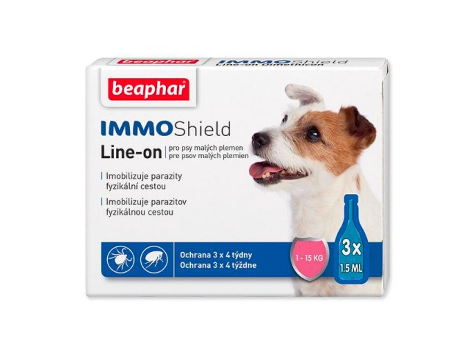 Line on Beaphar IMMO Shield pes S 3x1,5 ml na aaagranule