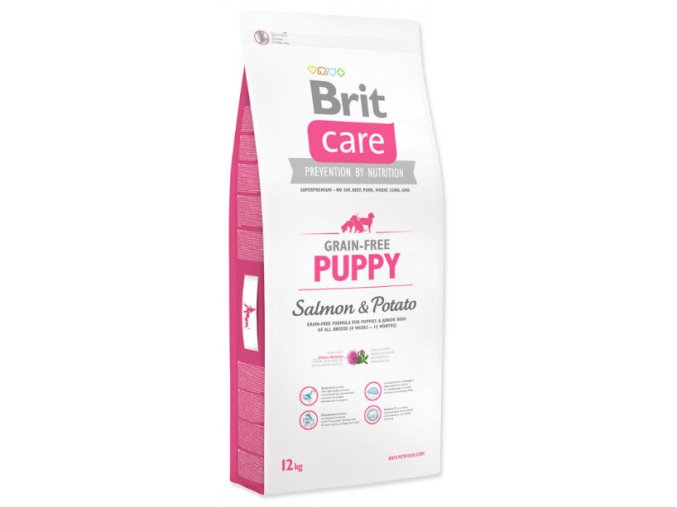 Brit Care Grain free Puppy Salmon & Potato 12 kg na aaagranule.cz