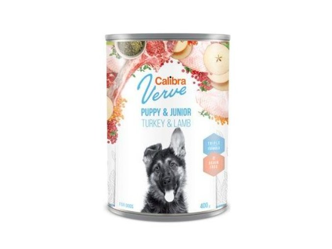 Calibra Dog Verve konz.GF Junior Turkey&Lamb 400g na aaagranule