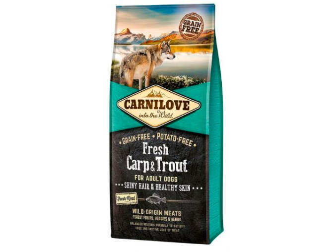 Carnilove dog Fresh Adult Carp & trout 12 kg