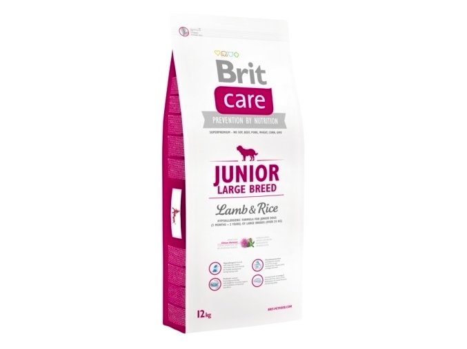 Brit Care Junior Large Breed Lamb & Rice 12 kg na aaagranule.cz