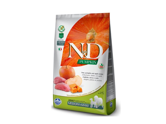 N&D Grain Free Pumpkin Adult M:L Boar & Apple 12 kg na aaagranule.cz
