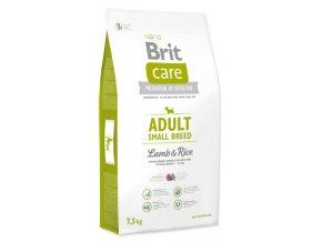 BRIT CARE ADULT SMALL BREED LAMB & RICE 7,5 KG na aaagranule.cz