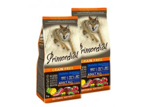 Dvojbalení Primordial Grain Free Adult Tuna and Lamb 2 x 12 kg