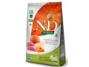 N&D GF Pumpkin Dog Adult Mini Boar&Apple 7 kg na aaagranule.cz