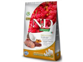 N&D GF Quinoa DOG Skin&Coat Quail & Coconut 7kg na aaagranule.cz