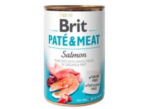 Brit Paté & Meat Salmon 400g na aaagranule.cz