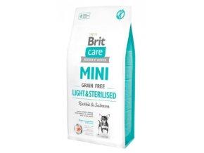 Brit Care Mini Light & Sterilised 7 kg na aaagranule