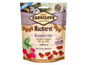 Carnilove Crunchy Mackerel with Raspberries 200g na aaagranule.cz