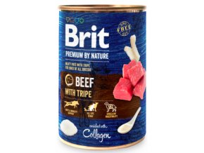 Brit Premium Dog by Nature konzerva Beef with Tripes 400g na aaagranule.cz