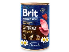 Brit Premium Dog by Nature konzerva Turkey with Liver 400g na aaagranule.cz