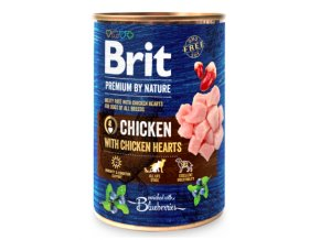 Brit Premium Dog by Nature konz Chicken with Hearts 400g na aaagranule.cz