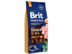 Brit Premium by Nature ADULT M 15 kg na aaagranule.cz