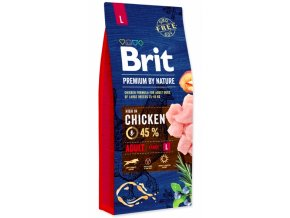 Brit Premium by Nature ADULT L 15 kg na aaagranule.cz