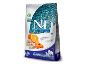 N&D Ocean dog GF Adult M:L Codfish & Pumpkin & Orange 12 kg na aaagranule.cz