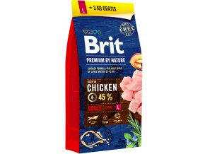 Brit Premium Dog by Nature Adult L 15kg + 3kg na aaagranule
