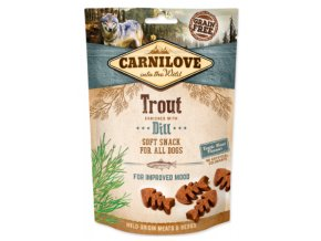 Carnilove Dog Semi Moist Snack Trout and Dill 200g na aaagranule