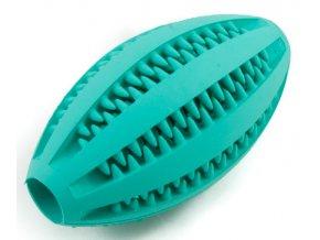 Dentální hračka pro psa Dentafun RUGBY s mátou 11cm na aaagranule