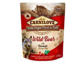 Carnilove Dog Pouch Paté Wild Boar & Rosehips 300g na aaagranule
