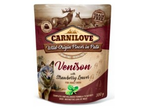 Carnilove Dog Pouch Paté Venison & Strawberry 300g na aaagranule