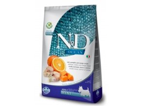 N&D OCEAN DOG Adult Mini Codfish&Pumpkin&Orange 7kg na aaagranule