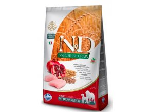 N&D LG DOG Adult M:L Chicken & Pomegranate 12kg na aaagranule.cz