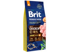 Brit Premium by Nature Junior M 15 kg na aaagranule.cz