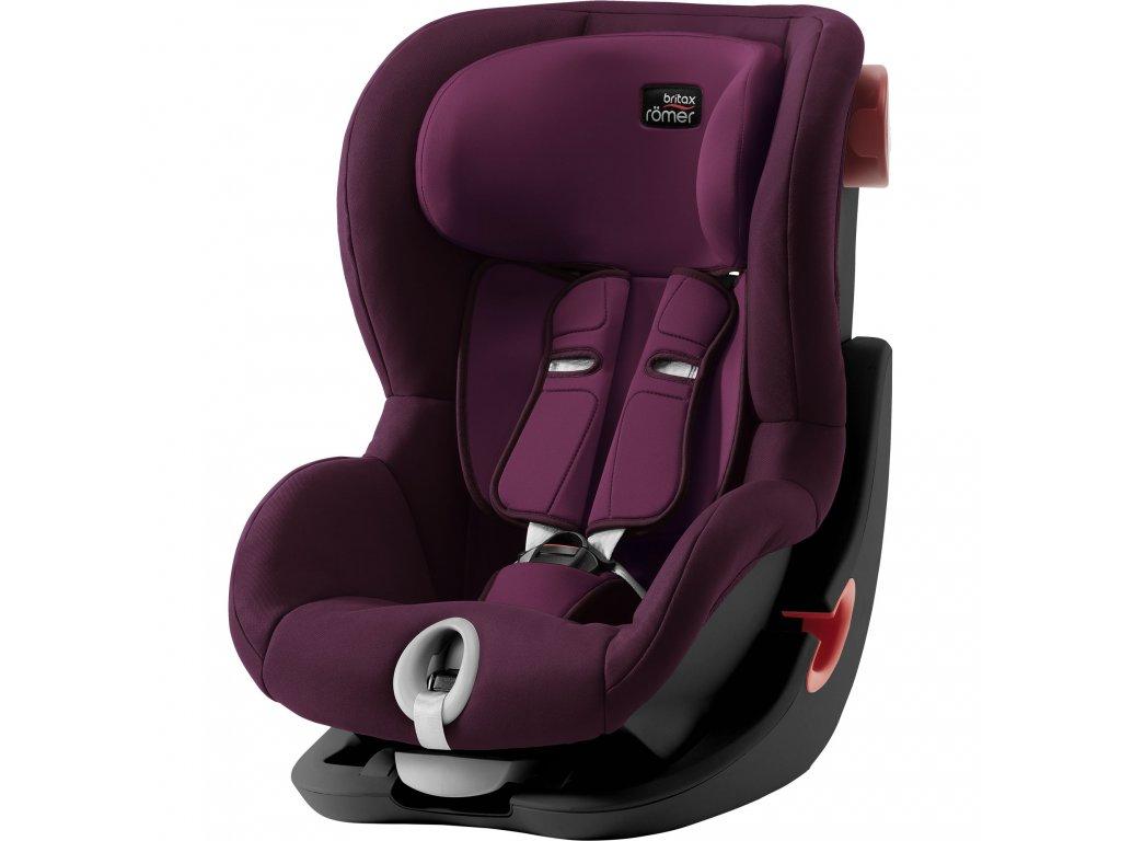 84095 autosedacka king ii black burgundy red