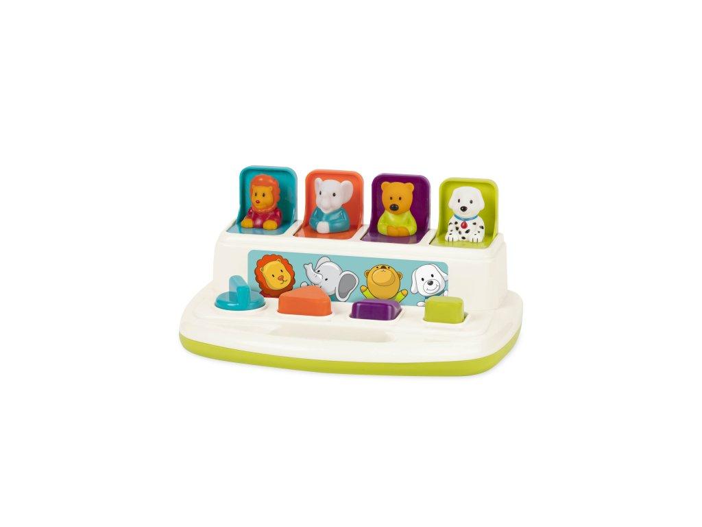 44087 b toys pultik se zviratky pop up pals
