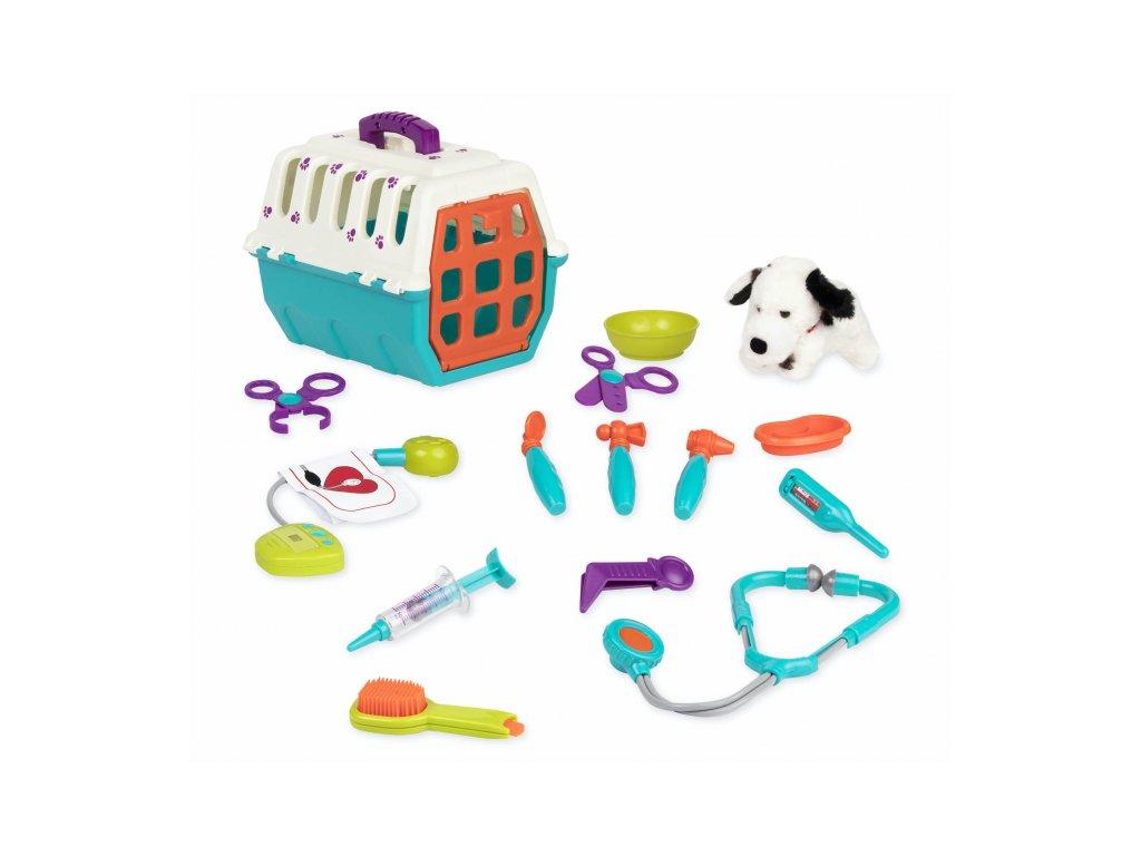 45980 b toys veterinarska sada s prepravkou dalmatin