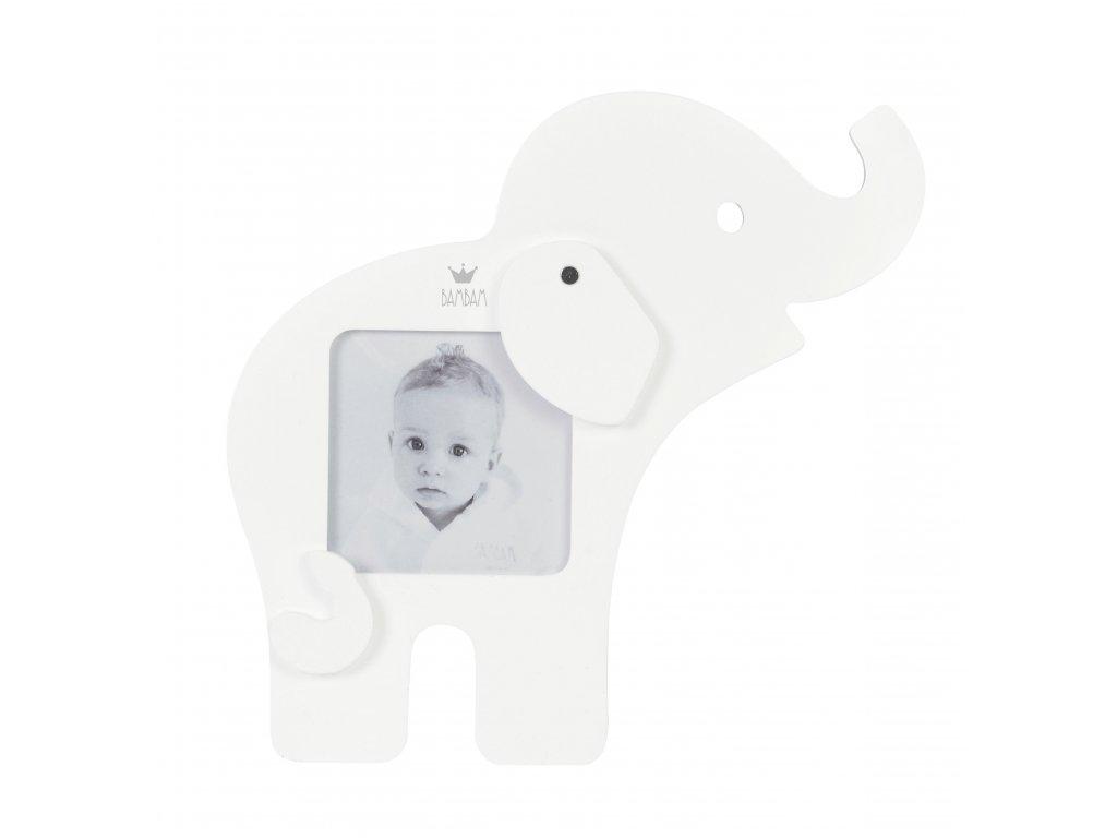 123149 bam bam slonik na fotku bily