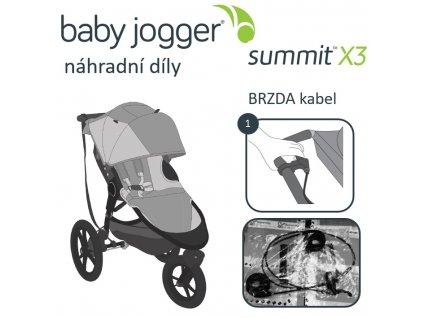 1019508 babyjogger brzda kabel summit x3