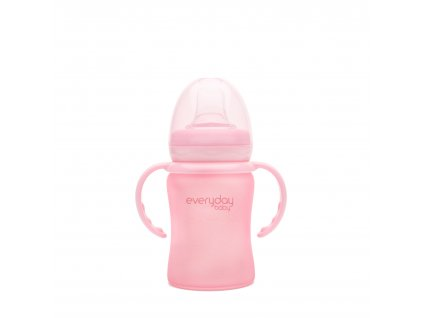 1019193 everydaybaby hrnecek sklo 150ml rose pink
