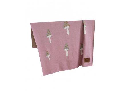 1019910 pinknomore deka bavlna smile pink