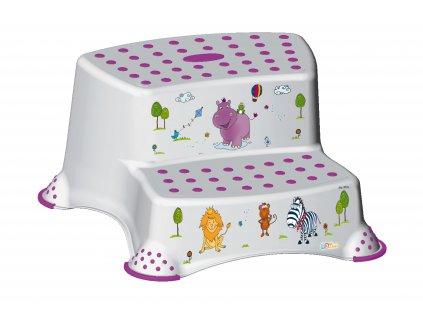 85706 dvojstupinek k wc umyvadlu hippo bila