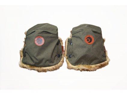 46175 easygrow rukavice na kocarek basic olive melange