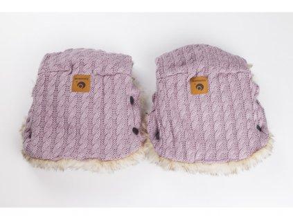 46178 easygrow rukavice na kocarek grandma pink melange