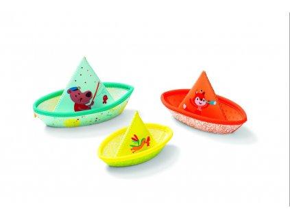 94907 lilliputiens 3 plovouci lodicky hracka do vody