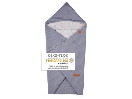 40967 voksi fusak baby wrap light grey star