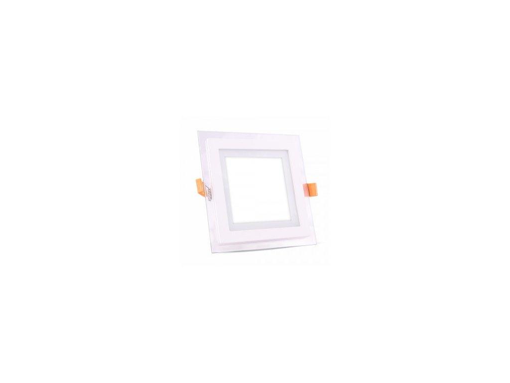 Podhledové svítidlo vsazené Q 12W 4K skleněný rám (VT-1202-6278)