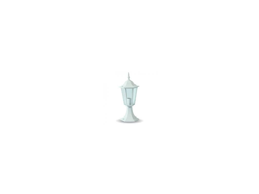 LED zahradní lampa stojací bílá 403mm (VT-753-7075)