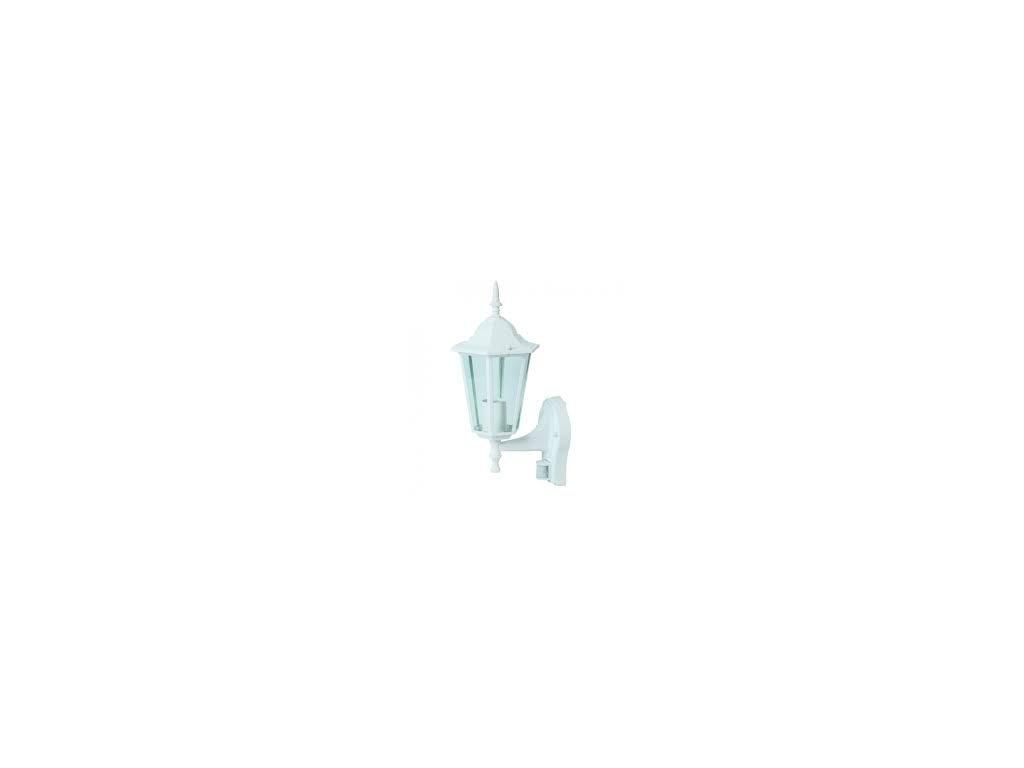 LED zahradní lampa bílá nástěnná 375mm s PIR senzorem (VT-751-7071)