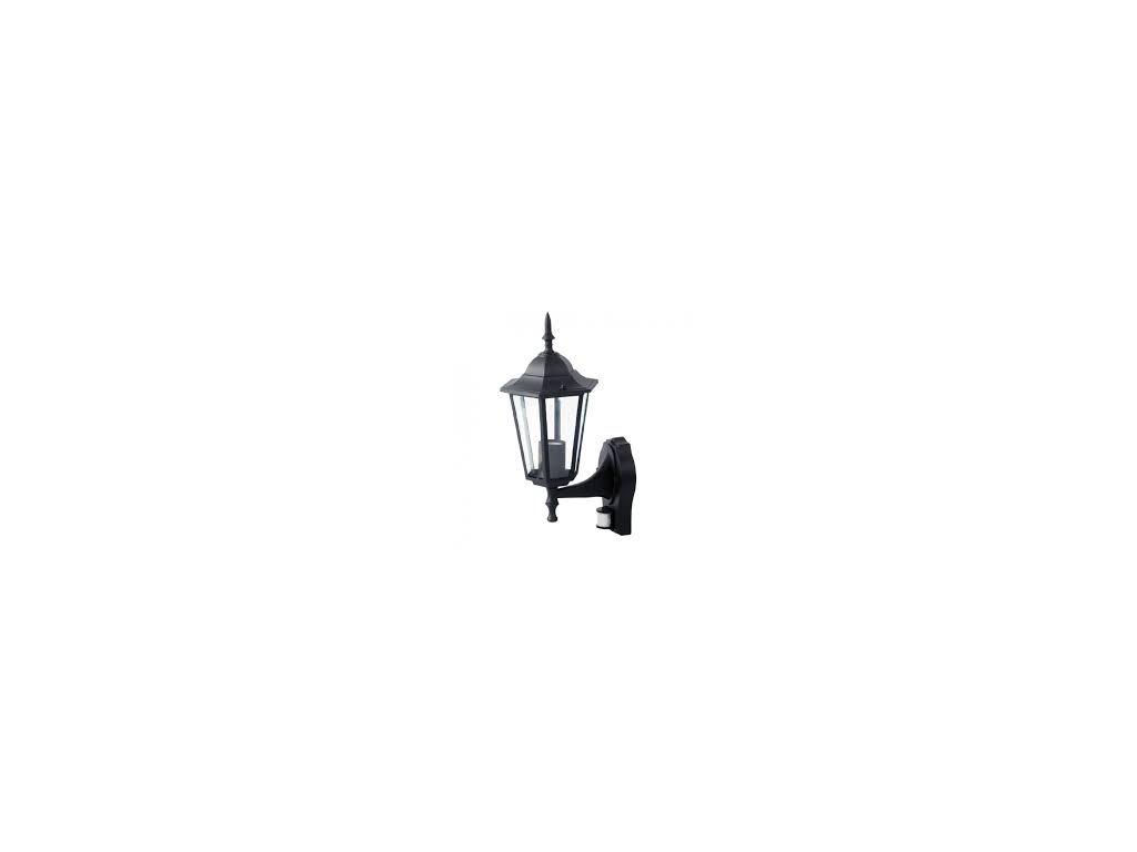 LED zahradní lampa černá nástěnná 375mm s PIR senzorem (VT-751-7070)