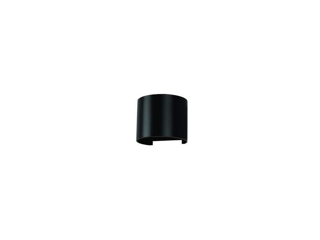 LED nástěnné oblé svítidlo 6W 4K černé (VT-756-7090)