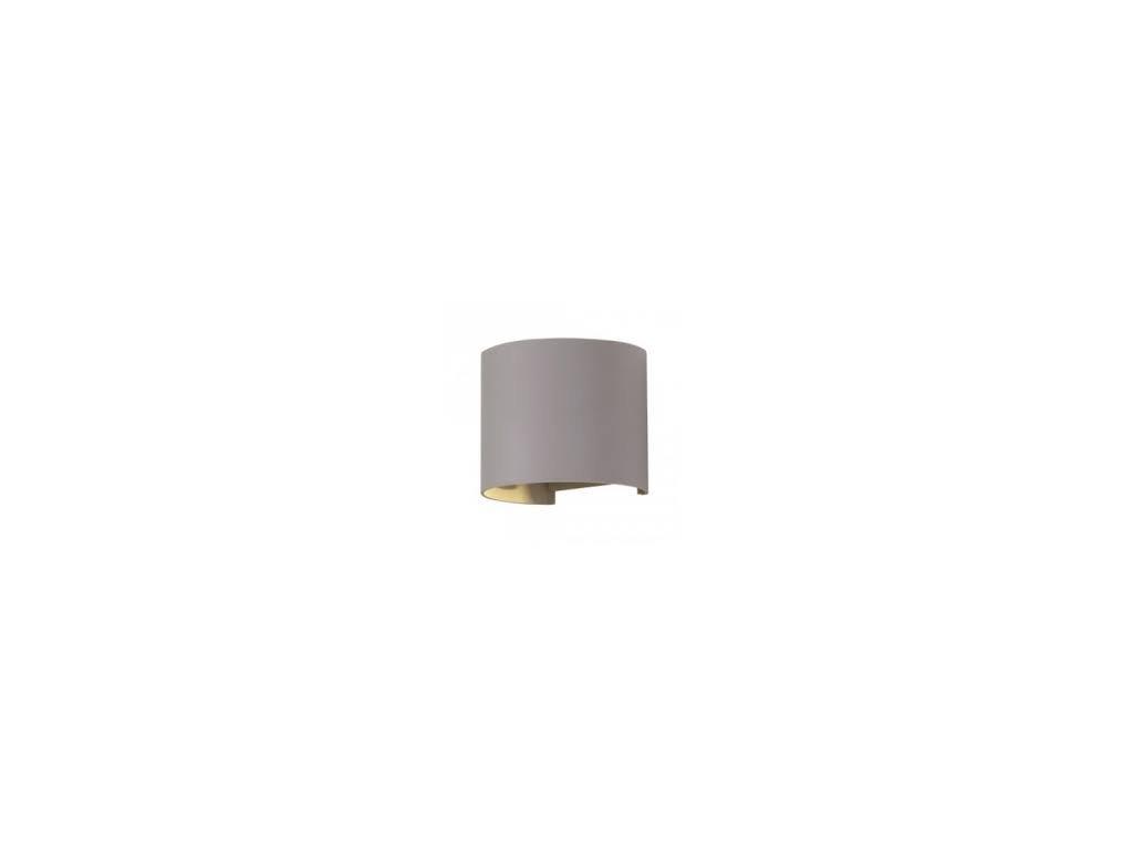 LED nástěnné oblé svítidlo 6W 3K šedé (VT-756-7083)