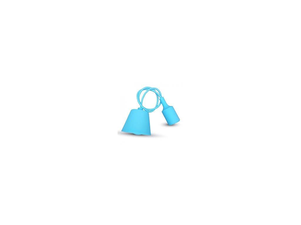 Závěsná silikonová objímka E27 světle modrá (VT-7228-3482)