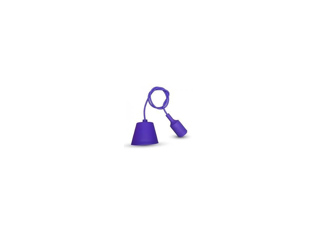 Závěsná silikonová objímka E27 fialová (VT-7228-3483)
