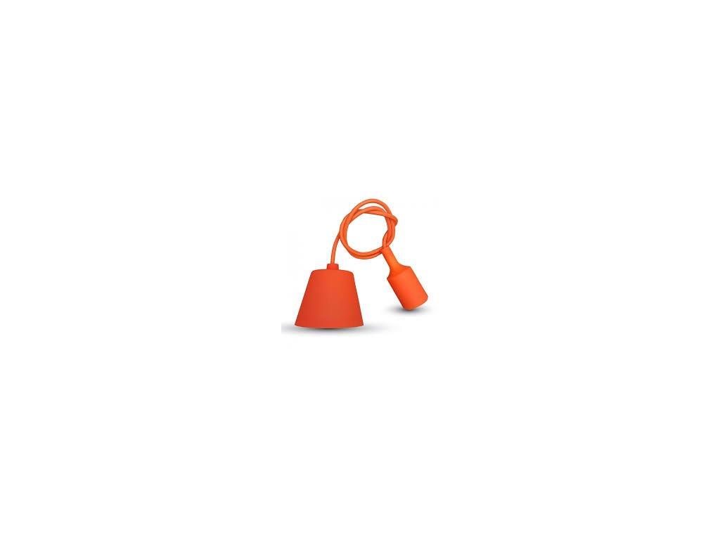 Závěsná silikonová objímka E27 oranžová (VT-7228-3484)